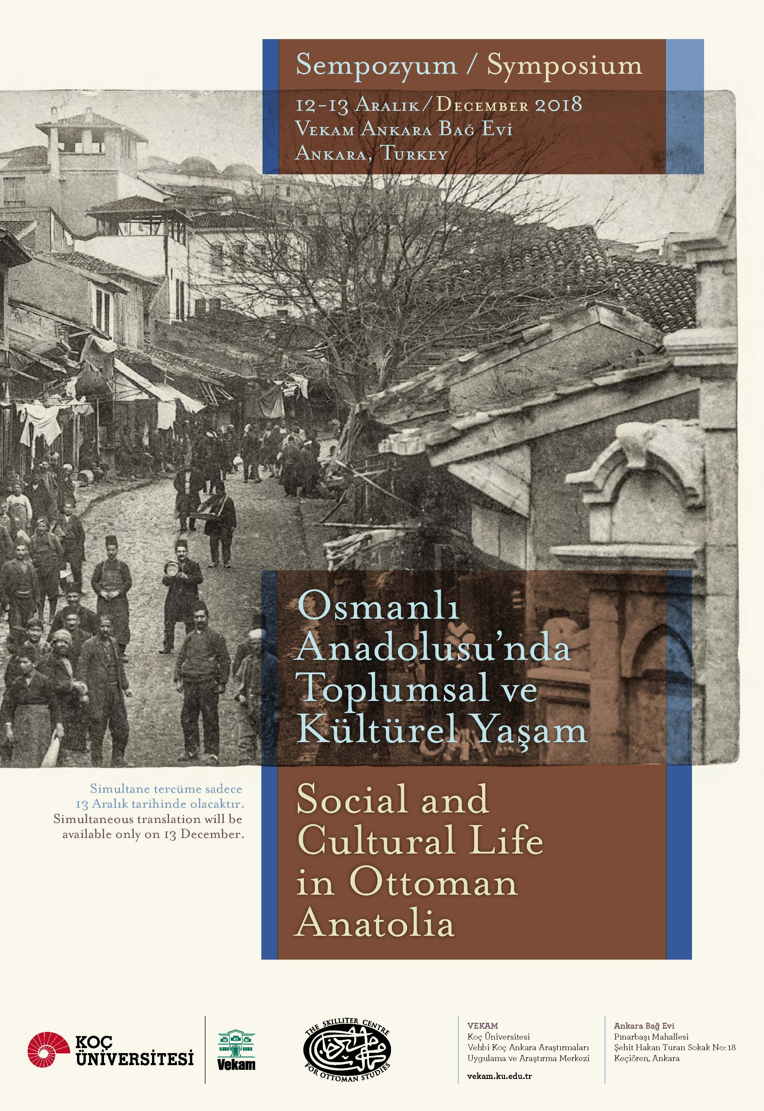 Social and Cultural Life in Ottoman Anatolia